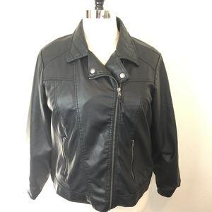 ASOS Curve New Look Vegan Leather Moto Jacket 2X
